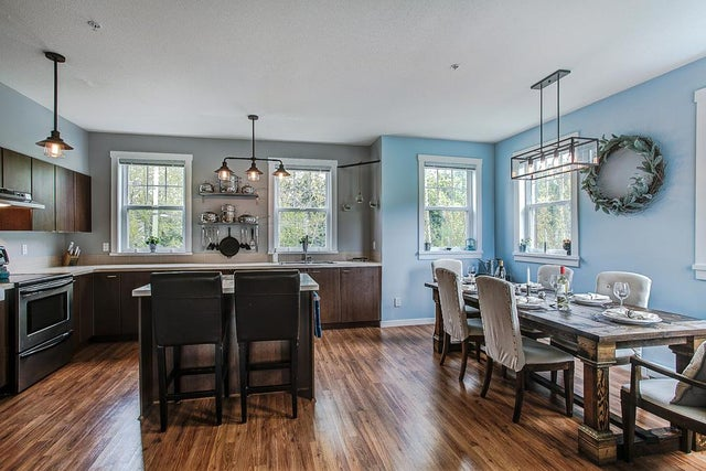 Kitchen and Dining area are a great open concept